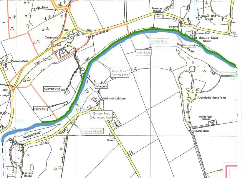 River Deveron Carnoustie/Waterside Beat Map