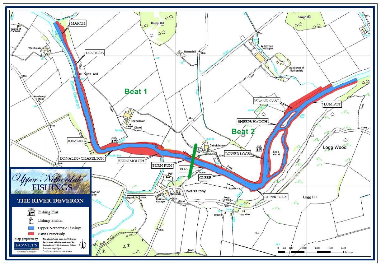 River Deveron Upper Netherdale Beat Map